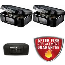 Small Fireproof Fire Resistant Keyed Chest Documents Files Safe Storage Box New