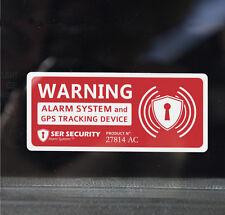 4x Autocollant Avertissement de Sécurité Alarmé Voiture, Van