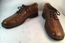Clarks Touareg Vibe Brown Leather Casual Oxford Shoes 26114014 Men 9.5/42.5M Vgc