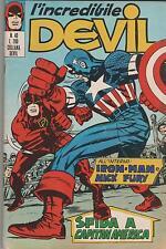 DEVIL  corno  # 40  SFIDA A CAPITAN AMERICA  iron man  nick fury shield  1971