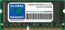 256MB PC100 100MHz / PC133 133MHz 144-PIN SDRAM SODIMM MEMORY RAM FOR LAPTOPS