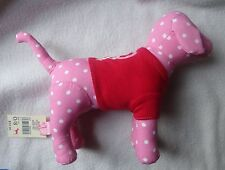 VICTORIA'S SECRET PINK  DOG POLKA DOT WITH RED PEACE SHIRT NWT