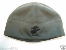 USMC EMBROIDERED POLAR FLEECE WATCH CAP BEANIE/ OLIVE COLOR/ MILITARY