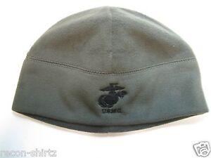 USMC EMBROIDERED POLAR FLEECE WATCH CAP BEANIE/ OLIVE COLOR/ MILITARY