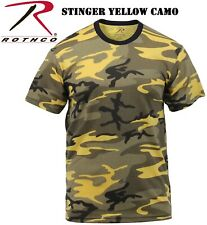 Camo T-Shirt Military Short Sleeve Tee, Army Camouflage Tshirt Rothco