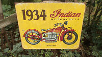 Vintage Signs Indian Motorcycle Collectible Tin Metal Rustic Signs Wall Decor