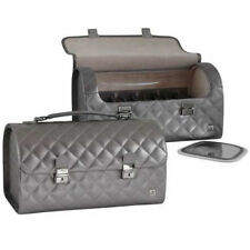 Ab Collezioni Girls Ladies Glamour Beauty Cosmetics Makeup Case With Mirror New