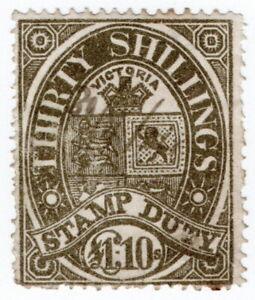 (I.B) Australia - Victoria Revenue : Stamp Duty £1 10/-