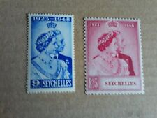 More details for george vi 1948 silver wedding  seychelles  un mounted mint