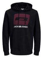 JACK&JONES Core Sudadera con Capucha Clásico Hombre Pecho Logo Estampado Suéter