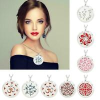 Stainless Steel Locket Necklace Fragrance Essential Oil Diffuser Aromathera P9Z9