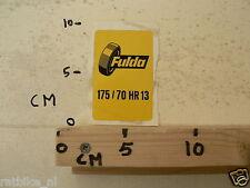 STICKER,DECAL FULDA BANDEN TYRES 175/70 HR13