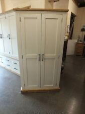 SHABBY PAINTED LINEN STORAGE CUPBOARD RUSTIC BESPOKE SIZES & COLOURS POINTING