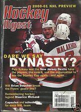 Hockey Digest Magazine November 2000 NHL Maurice Richard Brian Boucher