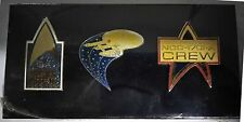 Star Trek 25th Anniversary Collection Set of 3 Collectors Pins 1966-1991 SEALED