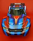 RUSTLER 4x4 BODY Shell (RED & Blue Cover Shell decals Traxxas VXL 67076-4