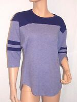 Victoria's Secret Pink NWT Athletic Crew SMALL T-Shirt Color MARL BLUE/BLUE