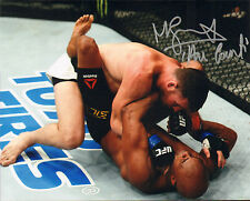 MICHAEL BISPING SIGNED AUTO'D 8X10 PHOTO MMA UFC CHAMPION VS ANDERSON SILVA A