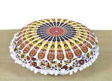 "16"" Small Round Multi Floral Mandala Room Decoretive Floor Pillow Cushion Covers"