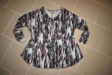 Hübsches-Shirt-von KENAR-Gr.46/48-bund/gemustert-stretch-taliert-Top Zustand