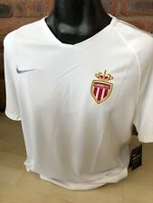 AS Monaco Football Home Shirt Training Top Warm Up Size XL Nike France Brand New