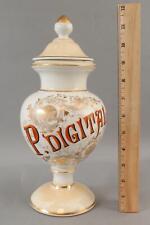 New listing Rare Antique French Porcelain Apothecary Medical Medicine Jar, P. Digital
