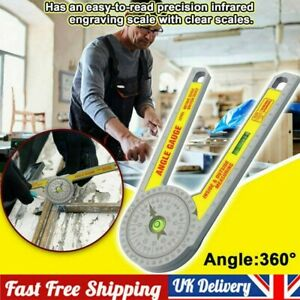 UK Angle Finder Miter Saw Protractor Measuring Ruler Tool Goniometer Pro Durable