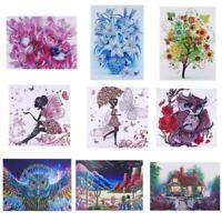 DIY 5D Diamond Painting Embroidery Cross Crafts Stitch Kit Home Wall Decor Art
