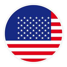 6 x Autocollant 5cm drapeau rond USA sticker valise vélo voiture
