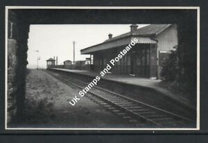 Twechar Railway Station Looking East In1954 Postcard Size Photograph As Scanned