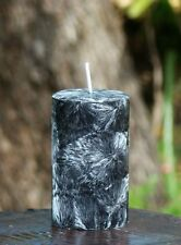 40hr OPIUM Scented Womens Pillar BLACK CANDLE with Cotton Wick MOTHERS DAY GIFT