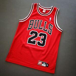 100% Authentic Michael Jordan Vintage Nike 97 98 Bulls Jersey Size 40 M Mens