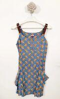 ladies Joe Browns Ditsy Daisy Floral Dress Top Size 10 Blue Mix Sleeveless