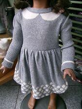 Vestito abito Natale bambina 12 mesi lana  panna grigio cerimonia HELLO KITTY