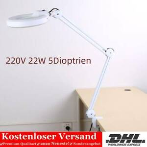 220V 22W 5 Vergrößerung LED Lupenleuchte Kaltlicht Arbeitsleuchte Lupenlampe