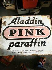 Aladdin Pink Paraffin Enamel Sign large