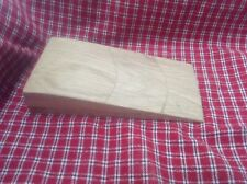 Handmade Solid Oak Door Stop Wedge