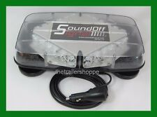 Sound Off Signal Pinnacle Series Mini Lightbar Magnet Mount Blue Flashing LEDs
