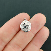 Free ship 320 pieces gold plated globe charms 20x14mm L-2575