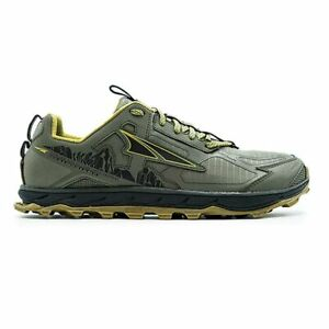 Altra Lone Peak 4.5 Men's Trail Running Shoes Olive Green US Size 11.5