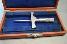 Vintage Brown Amp Sharpe Depth Micrometer No 608