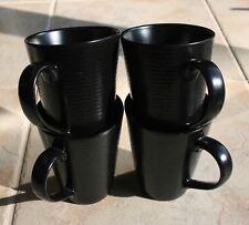 Lenox DKNY Urban Impressions Onyx Black Coffee Tea MUGS Set of 4 NWT PERFECT