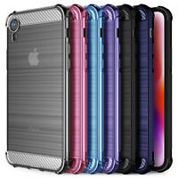 Apple iPhone XR 6.1 Carbon Fibre Best TPU Silicone Gel Case Protection Cover