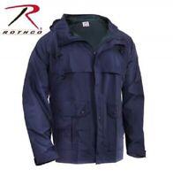 Rothco Mens Rain Waterproof Navy Blue Microlite PVC Coated Nylon Coat Jacket