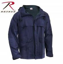 Rothco Mens Rain Waterproof Navy Blue Microlite PVC Coated Nylon Coat Jacket