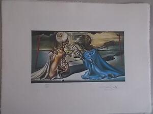 """Lithographie, Salvador Dali """" Conception pour l'ensemble """" ,signée et numérotée"""