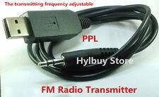 3.5mm Wireless Stereo USB FM PPL Transmitter for Car iphone Samsung TV PC DVD