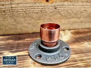 28mm Copper Malleable Iron Floor / Wall Flange Pipe Mount Fits 28mm Copper Pipe