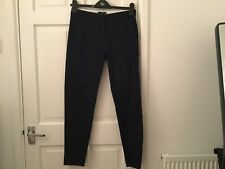 Marine Blue Ankle Length Trousers By H&M - Size 34 - Very Good Condition