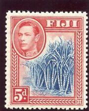 Fiji 1938 KGVI 5d blue & scarlet MLH. SG 258. Sc 123.